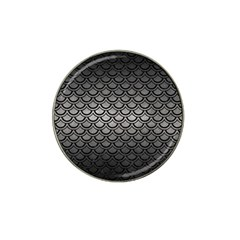 Scales2 Black Marble & Gray Metal 1 (r) Hat Clip Ball Marker