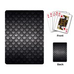 SCALES2 BLACK MARBLE & GRAY METAL 1 (R) Playing Card Back