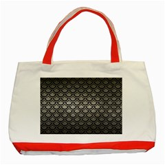 Scales2 Black Marble & Gray Metal 1 (r) Classic Tote Bag (red)