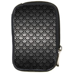 Scales2 Black Marble & Gray Metal 1 (r) Compact Camera Cases