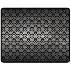 Scales2 Black Marble & Gray Metal 1 (r) Fleece Blanket (medium)