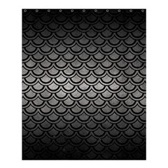 Scales2 Black Marble & Gray Metal 1 (r) Shower Curtain 60  X 72  (medium)