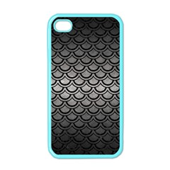 Scales2 Black Marble & Gray Metal 1 (r) Apple Iphone 4 Case (color)
