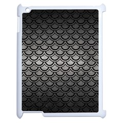 Scales2 Black Marble & Gray Metal 1 (r) Apple Ipad 2 Case (white)