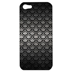 Scales2 Black Marble & Gray Metal 1 (r) Apple Iphone 5 Hardshell Case