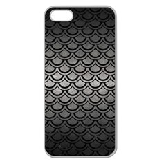 Scales2 Black Marble & Gray Metal 1 (r) Apple Seamless Iphone 5 Case (clear)
