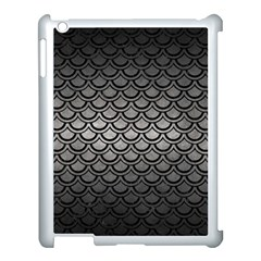 Scales2 Black Marble & Gray Metal 1 (r) Apple Ipad 3/4 Case (white)