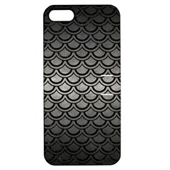 Scales2 Black Marble & Gray Metal 1 (r) Apple Iphone 5 Hardshell Case With Stand