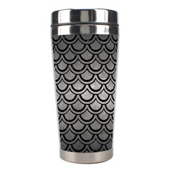 Scales2 Black Marble & Gray Metal 1 (r) Stainless Steel Travel Tumblers