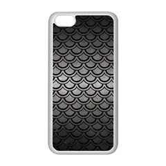Scales2 Black Marble & Gray Metal 1 (r) Apple Iphone 5c Seamless Case (white)