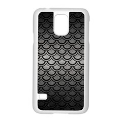 Scales2 Black Marble & Gray Metal 1 (r) Samsung Galaxy S5 Case (white)