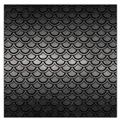 Scales2 Black Marble & Gray Metal 1 (r) Large Satin Scarf (square)