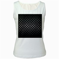 Scales3 Black Marble & Gray Metal 1 Women s White Tank Top