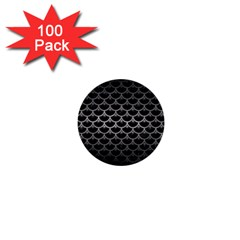 Scales3 Black Marble & Gray Metal 1 1  Mini Buttons (100 Pack)