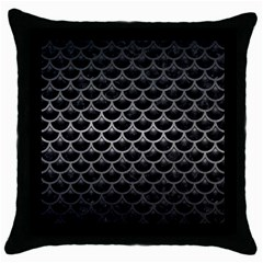 Scales3 Black Marble & Gray Metal 1 Throw Pillow Case (black)