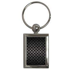 Scales3 Black Marble & Gray Metal 1 Key Chains (rectangle)