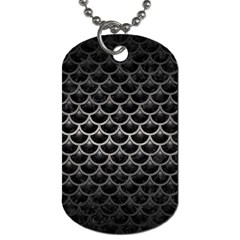 Scales3 Black Marble & Gray Metal 1 Dog Tag (one Side)