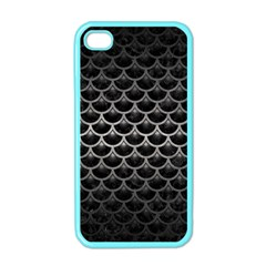 Scales3 Black Marble & Gray Metal 1 Apple Iphone 4 Case (color)