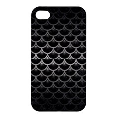 Scales3 Black Marble & Gray Metal 1 Apple Iphone 4/4s Hardshell Case