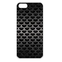Scales3 Black Marble & Gray Metal 1 Apple Iphone 5 Seamless Case (white)