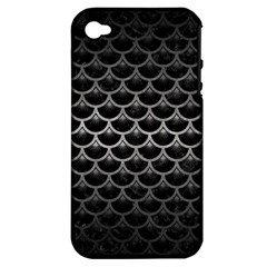 Scales3 Black Marble & Gray Metal 1 Apple Iphone 4/4s Hardshell Case (pc+silicone)