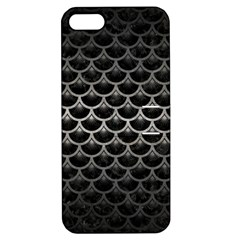 Scales3 Black Marble & Gray Metal 1 Apple Iphone 5 Hardshell Case With Stand