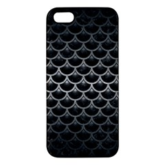 Scales3 Black Marble & Gray Metal 1 Apple Iphone 5 Premium Hardshell Case
