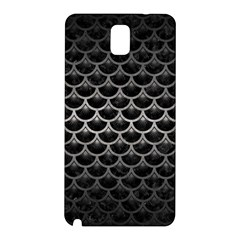 Scales3 Black Marble & Gray Metal 1 Samsung Galaxy Note 3 N9005 Hardshell Back Case