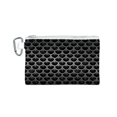 Scales3 Black Marble & Gray Metal 1 Canvas Cosmetic Bag (s)