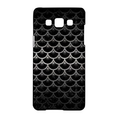 Scales3 Black Marble & Gray Metal 1 Samsung Galaxy A5 Hardshell Case