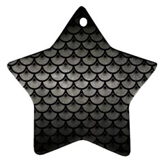 Scales3 Black Marble & Gray Metal 1 (r) Ornament (star)