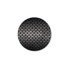 Scales3 Black Marble & Gray Metal 1 (r) Golf Ball Marker (10 Pack)