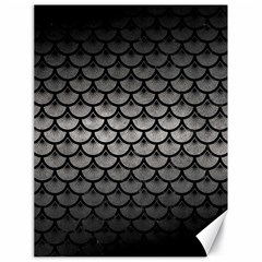Scales3 Black Marble & Gray Metal 1 (r) Canvas 18  X 24