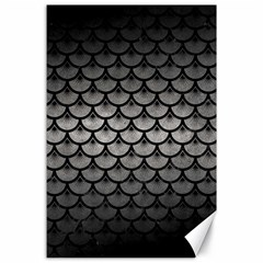 Scales3 Black Marble & Gray Metal 1 (r) Canvas 24  X 36