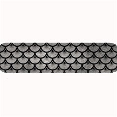 Scales3 Black Marble & Gray Metal 1 (r) Large Bar Mats