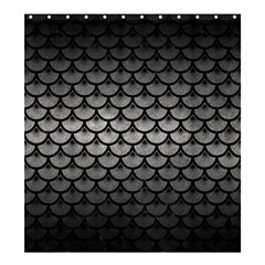 Scales3 Black Marble & Gray Metal 1 (r) Shower Curtain 66  X 72  (large)