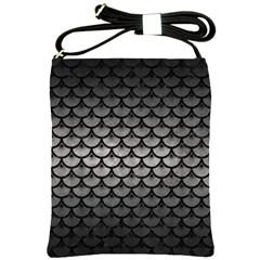 Scales3 Black Marble & Gray Metal 1 (r) Shoulder Sling Bags