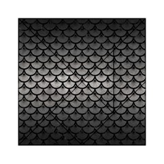 Scales3 Black Marble & Gray Metal 1 (r) Acrylic Tangram Puzzle (6  X 6 )