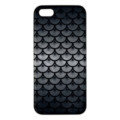 Scales3 Black Marble & Gray Metal 1 (r) Apple Iphone 5 Premium Hardshell Case