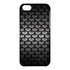 Scales3 Black Marble & Gray Metal 1 (r) Apple Iphone 5c Hardshell Case