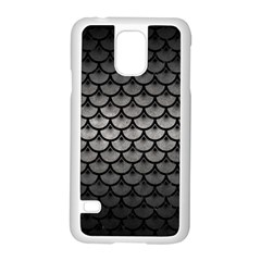 Scales3 Black Marble & Gray Metal 1 (r) Samsung Galaxy S5 Case (white)