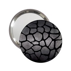 Skin1 Black Marble & Gray Metal 1 2 25  Handbag Mirrors