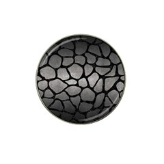Skin1 Black Marble & Gray Metal 1 Hat Clip Ball Marker (10 Pack)