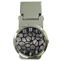 Skin1 Black Marble & Gray Metal 1 Money Clip Watches