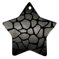 Skin1 Black Marble & Gray Metal 1 Star Ornament (two Sides)