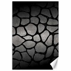 Skin1 Black Marble & Gray Metal 1 Canvas 20  X 30