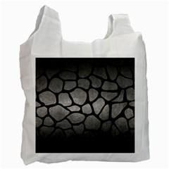 Skin1 Black Marble & Gray Metal 1 Recycle Bag (one Side)