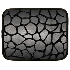 Skin1 Black Marble & Gray Metal 1 Netbook Case (xxl)