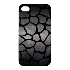 Skin1 Black Marble & Gray Metal 1 Apple Iphone 4/4s Premium Hardshell Case