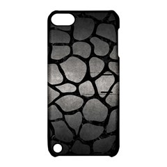 Skin1 Black Marble & Gray Metal 1 Apple Ipod Touch 5 Hardshell Case With Stand